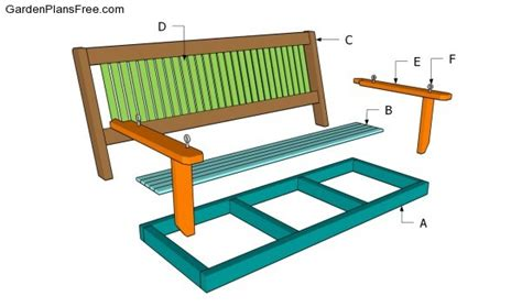 bench swing plans hanging porch swing bed plans diywoodplans
