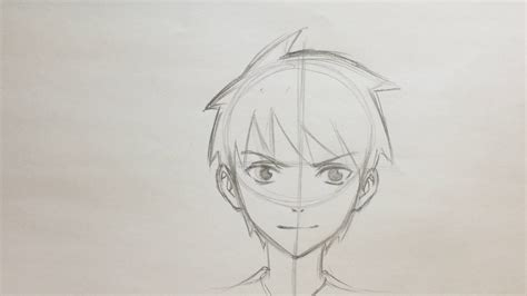 A Anime Drawing by Simple Anime Boy Drawing Simple Anime Boy Sketch