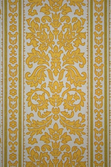 baroque stripes wallpaper  yellow color