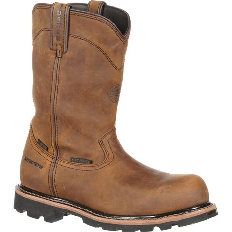 justin pull on work boots justin work composite toe metatarsal pull on boot jwk4630