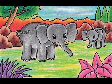 tutorial menggambar jerapah gambar menggambar gajah learn draw elephant youtube