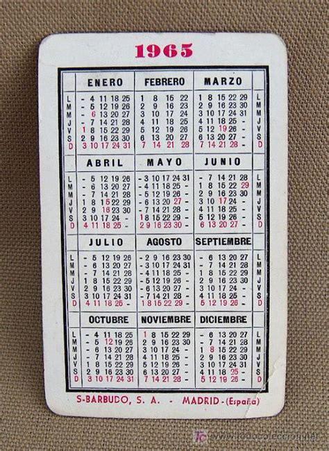 Calendario De 1965 Calendario 1965 Torero Cordobes Barbudo Ga Comprar