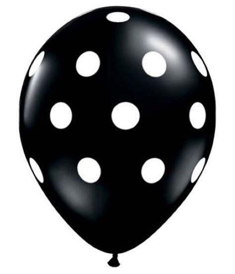 Rubber Black White shatchi krupa black white rubber polka dot balloons 6