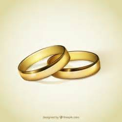 wed rings golden rings for wedding vector free