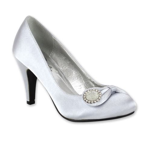 Damen Brautschuhe by Damen Brautschuhe High Heels Pumps Satin Optik Schuhe