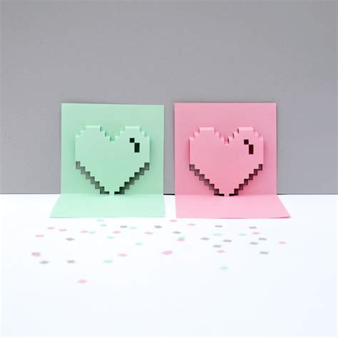 pixel pop up card template popup pixel valentines card 2013 new improved minieco