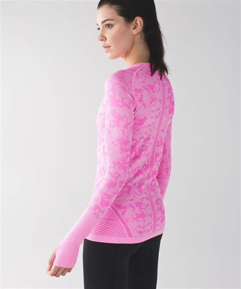 lululemon swiftly tech long sleeve crew heathered
