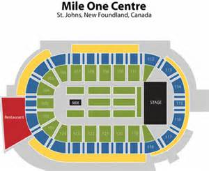 mile one centre seating chart mile one centre tickets