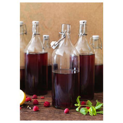 swing top glass bottles ikea korken bottle with stopper clear glass 1 l ikea