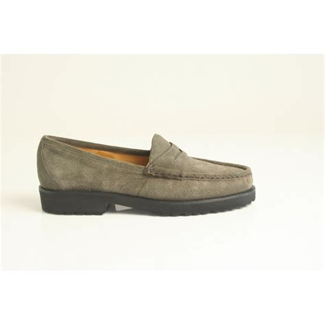 loafer moccasin pascucci pascucci taupe suede loafer moccasin with