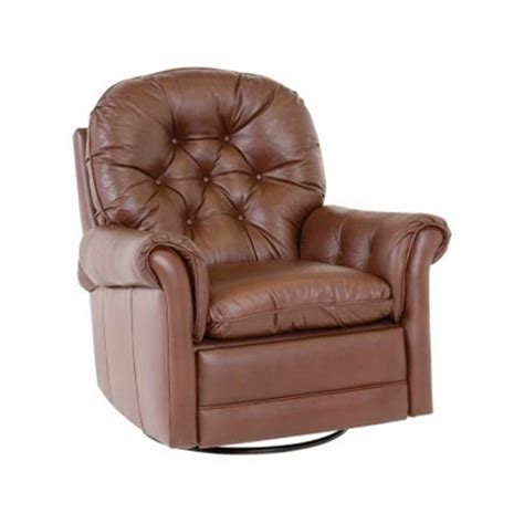 Classic Leather Recliner by Classic Leather 160 Sgr Crescent Swivel Glider Recliner