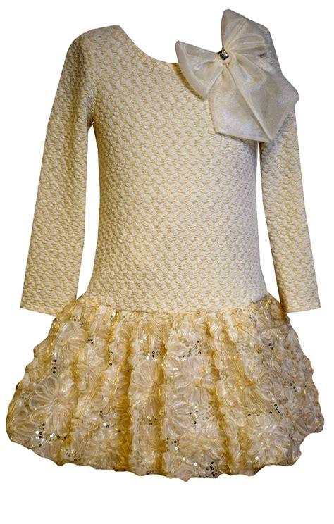 Bonnie Jean - bonnie jean big gold knit dress