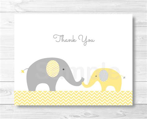 elephant template for baby shower elephant thank you card elephant baby shower chevron