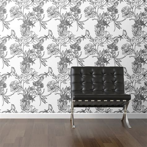 floral removable wallpaper walls need love floral removable wallpaper fab