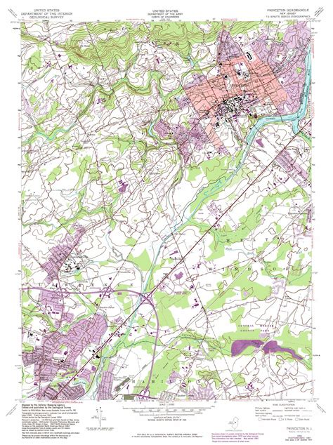 princeton map princeton topographic map nj usgs topo 40074c6