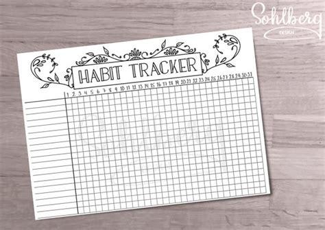 printable habit tracker bullet journal bullet journal habit tracker