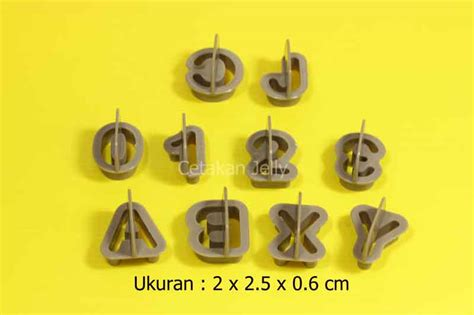 Cookie Cutter Angka cetakan cookies alphabet number cutter cetakan jelly cetakan jelly