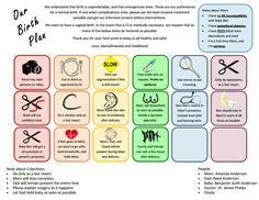 Birth Plan Icons By Slidewithme Birth Birthing Plan And Childbirth Education Visual Birth Plan Template