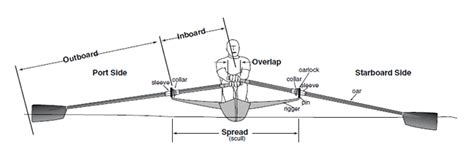 sculling boat positions setting inboard for sculls and sweeps concept2