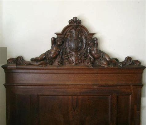 wood carved headboards carved walnut headboard with carved fronton rococo infl italian sec xix made of solid