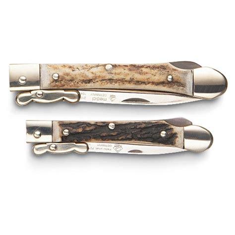 medici knife 174 stag medici lockback 174 knife large 106881 folding