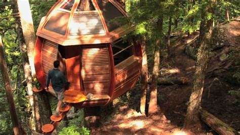 Treehouses by The Hemloft A Secret Treehouse Hiding In The Woods Of