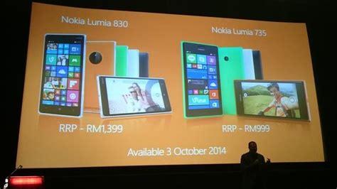 Microsoft Di Malaysia microsoft melancarkan lumia 735 dan lumia 830 di malaysia