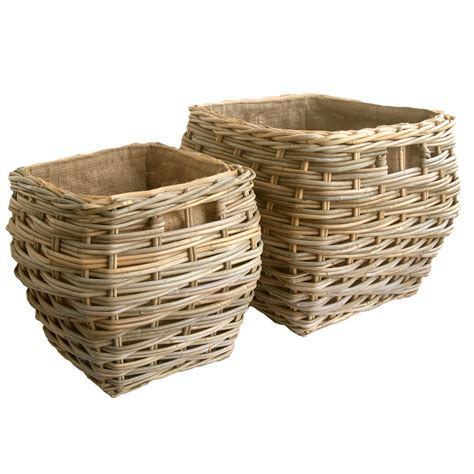 Lined Log Baskets For Fireplaces by Square Shaped Grey Lined Log Basket