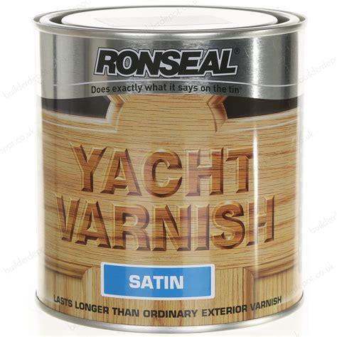 yacht varnish ronseal yacht varnish satin 500ml zener diy online