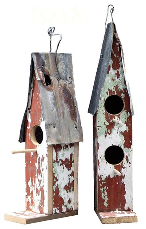 recycled timber corrugated iron birdhouses by boodle