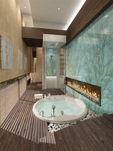 fireplace in bathroom wall stunning bathroom with fireplace find fun art projects