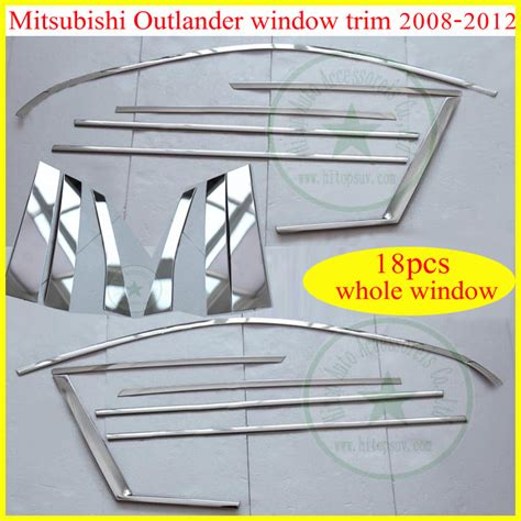 Window Sill Grill Aluminum Front Grille Grill Trim Trims 3pcs For Mitsubishi