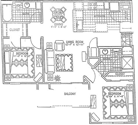 two bedroom two bath floor plans floor plans legends terrace apartments luxury living