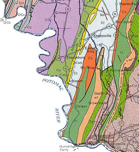 maryland formation map geologic maps of maryland washington county south 1968
