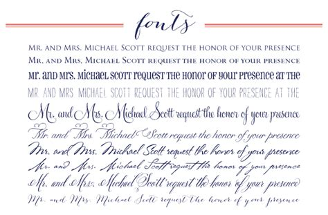 Wedding Font Block by Cricket Printing Customizing Your Wedding Invitations