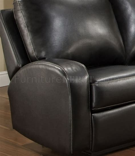 Black Leather Reclining Loveseat With Console Black Bonded Leather Modern Reclining Sofa