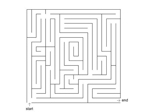 maze printable version leicestershire dyslexia association small maze 6