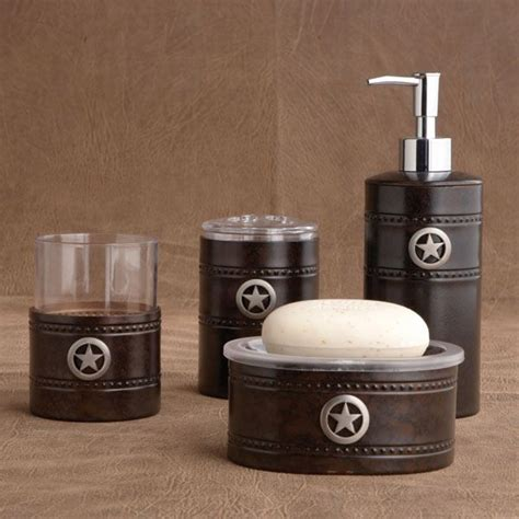 ideas for bathroom accessories rustic bath set western bathrooms