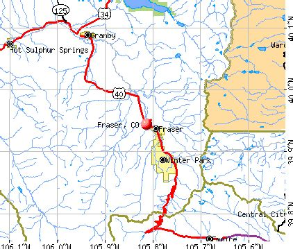 fraser colorado map fraser co get out of town