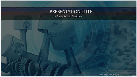 Free 3d Engine Pistons Powerpoint 38772 Sagefox Engine Templates