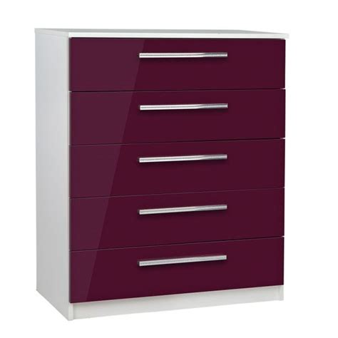 Black Chest Of Drawers Argos by Buy Collection Sparkle 5 Drawer Chest Plum At Argos Co
