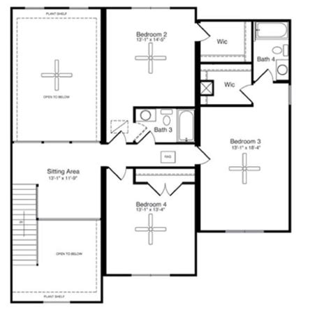 salisbury homes floor plans the salisbury hcl 001 3292 square foot two story floor