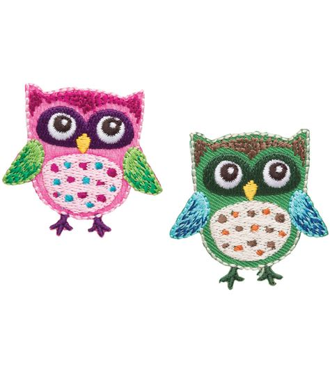 applique iron on simplicity iron on appliques 2 pkg owls at joann