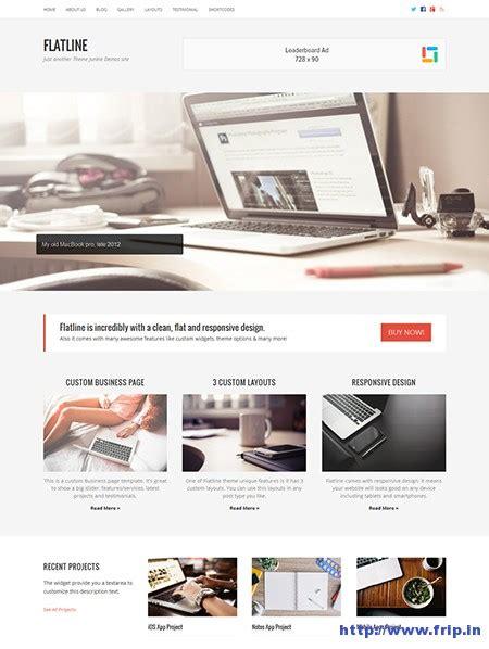 flatline responsive business wordpress theme themes 14 new premium wordpress themes released in march 2015