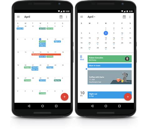 calendar app android calendar introduces month view again android