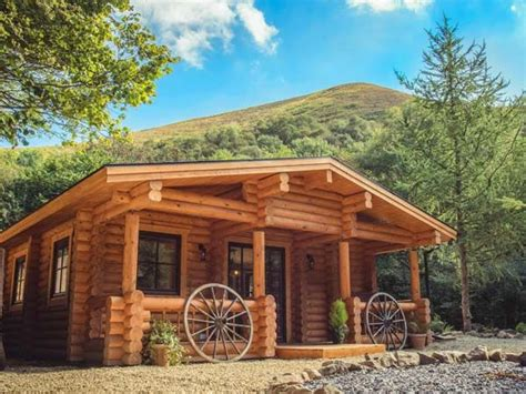 Wales Log Cabins With Tub by Wilderness Lodge Shropshire Log Cabins With Tubs