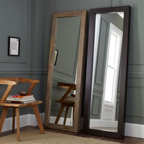 Floor Mirror by Parsons Floor Mirror Solid Wood West Elm Uk