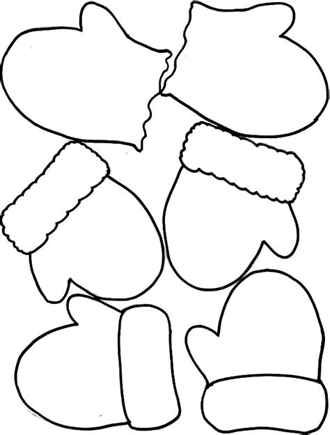 mitten coloring page pair of mittens page coloring pages
