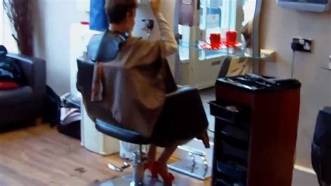 haircut cape story barber cape lady haircut finnish youtube