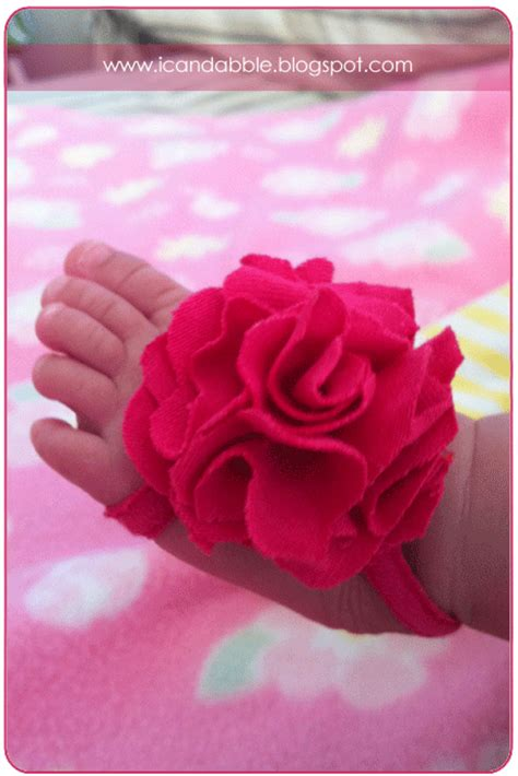 i can dabble diy barefoot baby bloom booties